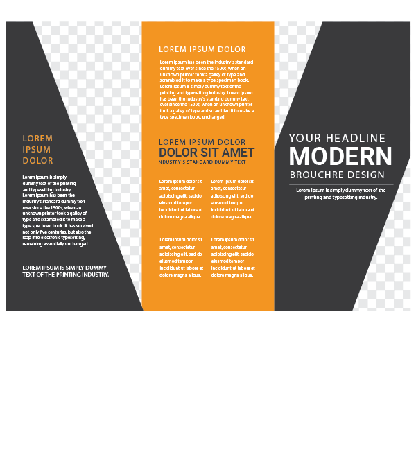 Abstract and Stylish Trifold Front