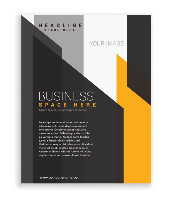 Black and Yellow Geometric One Page Flyer