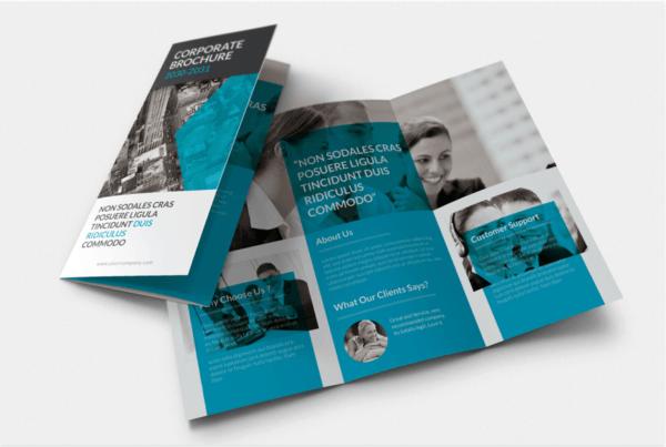 Digital Dreams Corporate Trifold Brochure