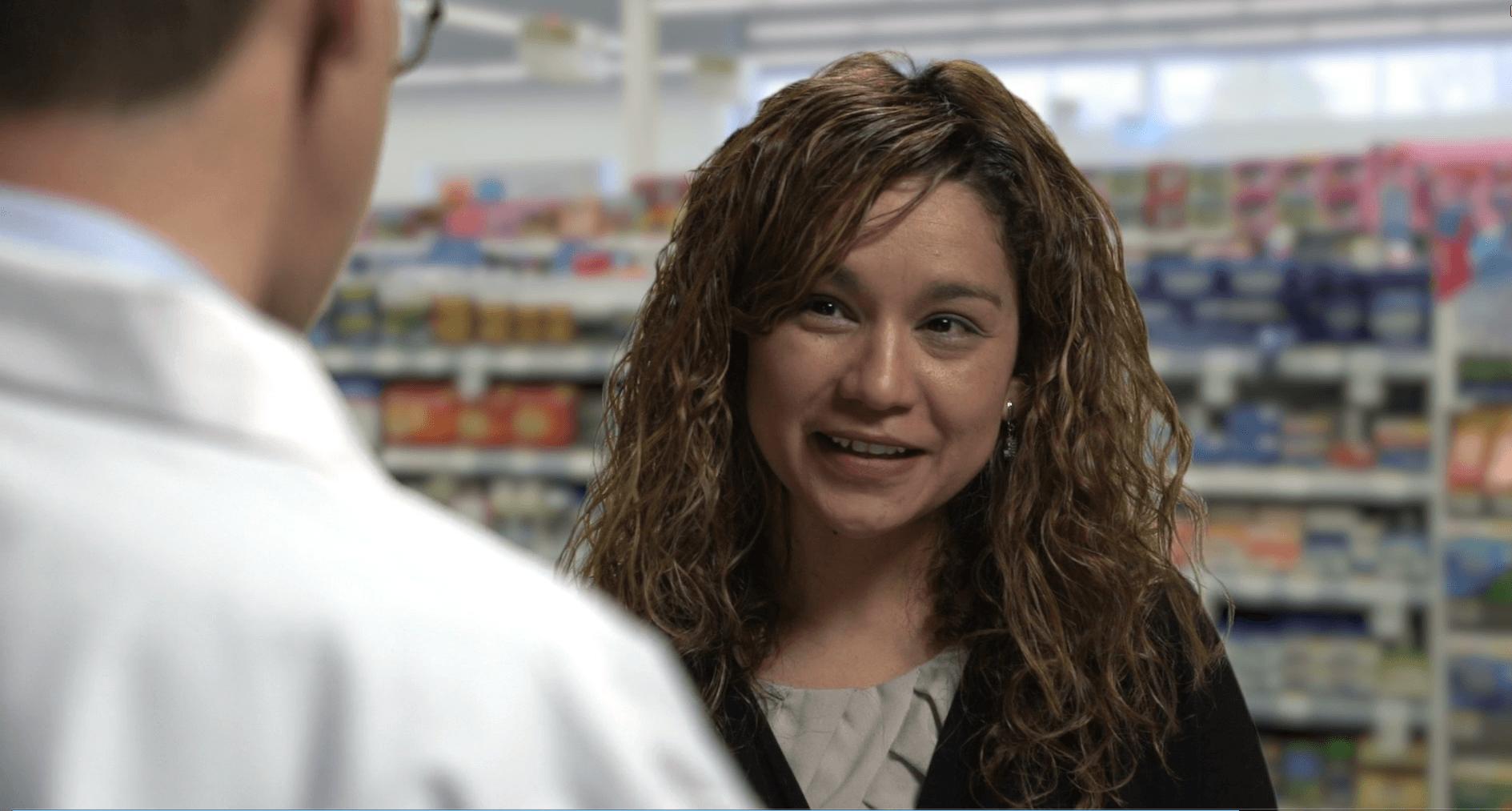 Digital Dreams website video banner of pharmacist patient transaction