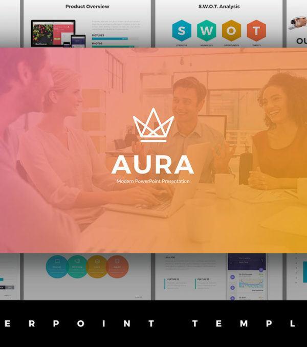 Aura PowerPoint Presentation Template
