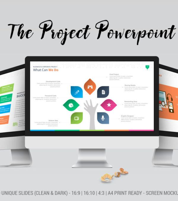The Project Powerpoint Template Digital Dreams